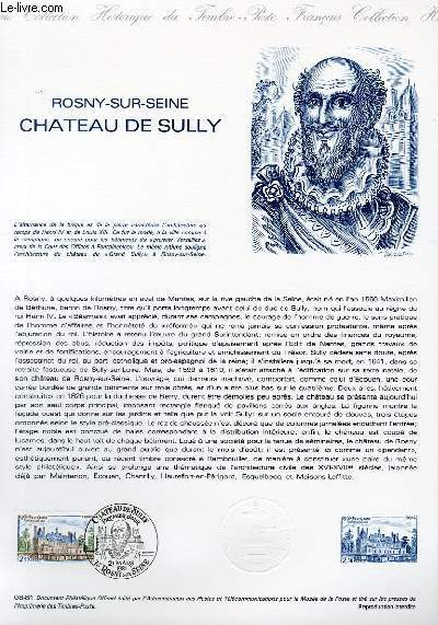 DOCUMENT PHILATELIQUE OFFICIEL N°08-81 - ROSNY SUR SEINE CHATEAU DE SULLY (N°2135 YVERT ET TELLIER)