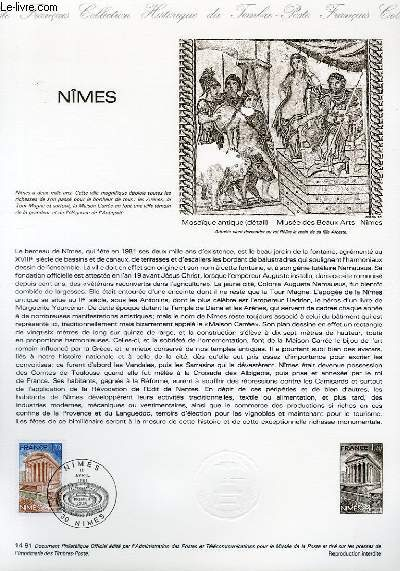 DOCUMENT PHILATELIQUE OFFICIEL N°14-81 - LA MAISON CARREE A NIMES (N°2133 YVERT ET TELLIER)