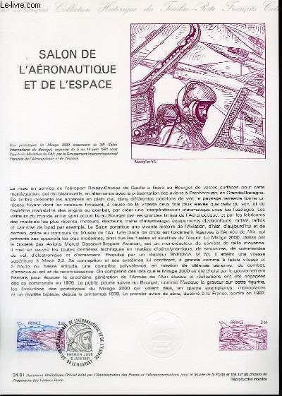 DOCUMENT PHILATELIQUE OFFICIEL N°24-81 - SALON DE L'AERONAUTIQUE ET DE L'ESPACE (N°AV.54 YVERT ET TELLIER)