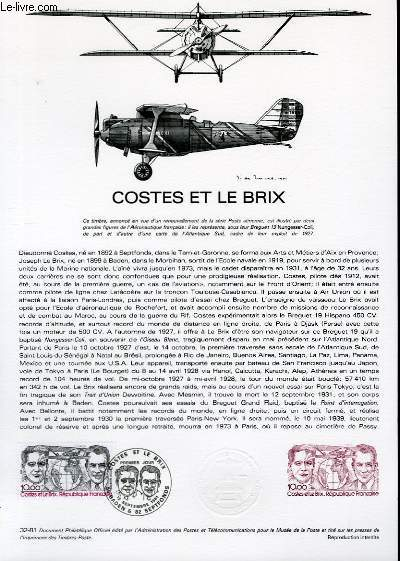 DOCUMENT PHILATELIQUE OFFICIEL N°32-81 - COSTES ET LEBRIX (N°AV. 56 YVERT ET TELLIER)