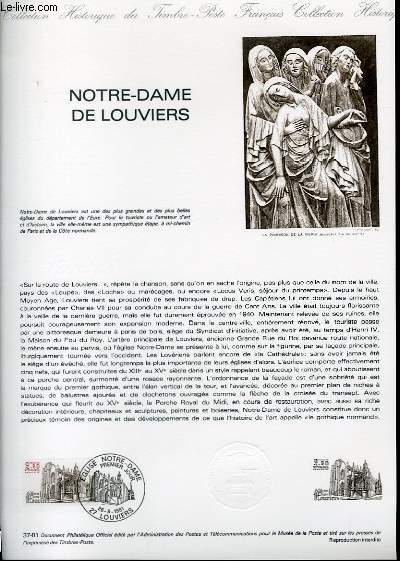 DOCUMENT PHILATELIQUE OFFICIEL N°37-81 - NOTRE-DAME DE LOUVIERS (N°2161 YVERT ET TELLIER)