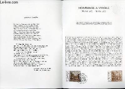 DOCUMENT PHILATELIQUE OFFICIEL N�45-81 - HOMMAGE A VIRGILE 70AV. J.C. - 19 AV. J.C. (N�2174 YVERT ET TELLIER)