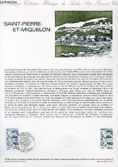 DOCUMENT PHILATELIQUE OFFICIEL N°02-82 - SAINT PIERRE ET MIQUELON (N°2193 YVERT ET TELLIER)
