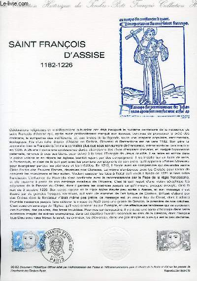DOCUMENT PHILATELIQUE OFFICIEL N°06-82 - SAINT FRANCOIS D'ASSISE 1182-1226 (N°2198 YVERT ET TELLIER)