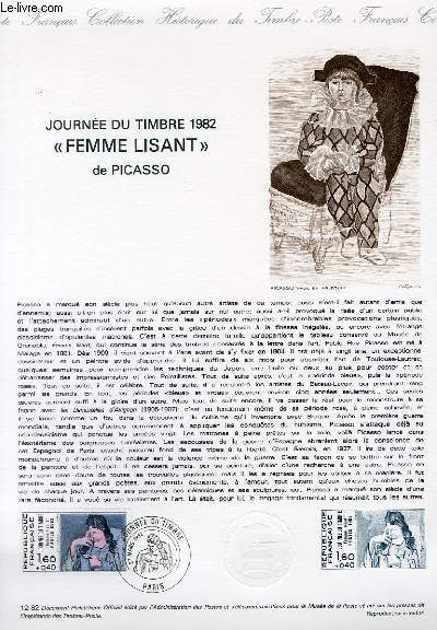 DOCUMENT PHILATELIQUE OFFICIEL N�12-82 - JOURNEE DU TIMBRE 1982 -