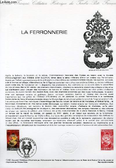 DOCUMENT PHILATELIQUE OFFICIEL N°13-82 - LA FERRONNERIE (N°2206 YVERT ET TELLIER)