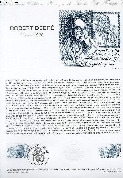 DOCUMENT PHILATELIQUE OFFICIEL N°20-82 - ROBERT DEBRE 1882-1978 (N°2228 YVERT ET TELLIER)