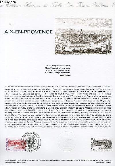 DOCUMENT PHILATELIQUE OFFICIEL N°26-82 - AIX EN PROVENCE (N°2194 YVERT ET TELLIER)