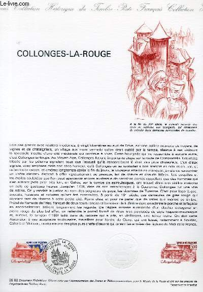 DOCUMENT PHILATELIQUE OFFICIEL N�28-82 - COLLONGES LA ROUGE (N�2196 YVERT ET TELLIER)