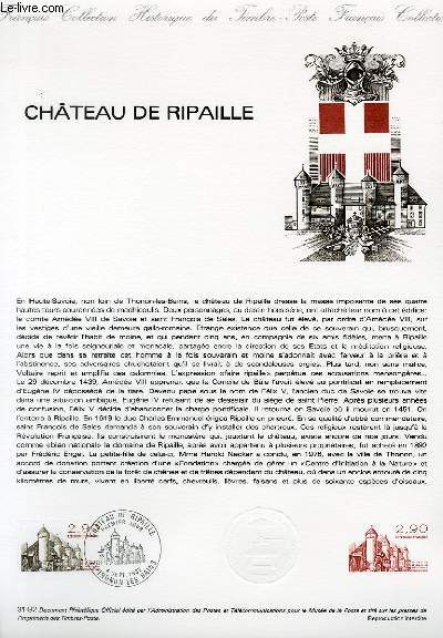 DOCUMENT PHILATELIQUE OFFICIEL N°31-82 - CHATEAU DE RIPAILLE (N°2232 YVERT ET TELLIER)