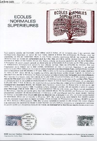 DOCUMENT PHILATELIQUE OFFICIEL N°36-82 - ECOLES NORMALES SUPERIEURES (N°223 YVERT ET TELLIER)