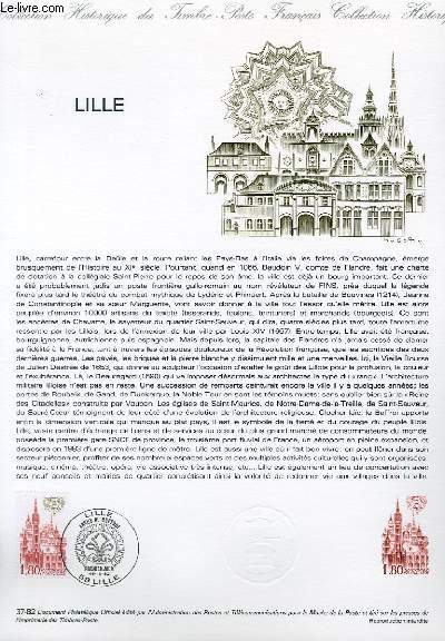 DOCUMENT PHILATELIQUE OFFICIEL N°37-82 - LILLE LE BEFFROI (N°2238 YVERT ET TELLIER)