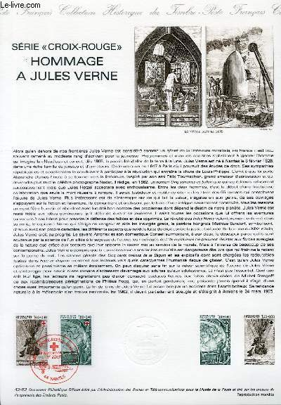 DOCUMENT PHILATELIQUE OFFICIEL N°42-82 - SERIE CROIX ROUGE - HOMMAGE A JULES VERNE (N°2247-48 YVERT ET TELLIER)