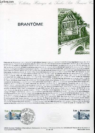 DOCUMENT PHILATELIQUE OFFICIEL N°04-83 - BRANTOME (N°2253 YVERT ET TELLIER)