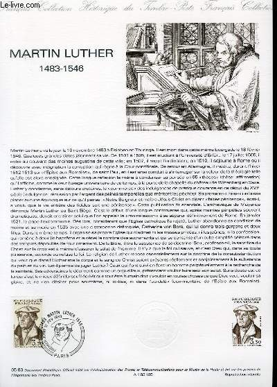 DOCUMENT PHILATELIQUE OFFICIEL N°05-83 - MARTIN LUTHER 1483-1546 (N°2256 YVERT ET TELLIER)