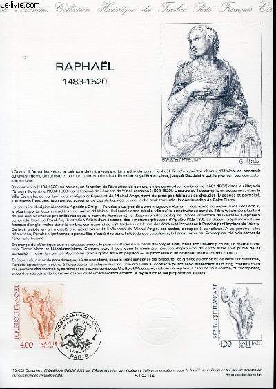 DOCUMENT PHILATELIQUE OFFICIEL N°12-83 - RAPHAEL 1483-1520 (N°2264 YVERT ET TELLIER)