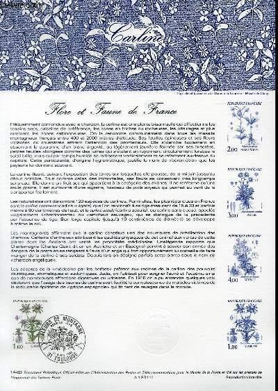 DOCUMENT PHILATELIQUE OFFICIEL N°14-83 - FLORE ET FAUNE DE FRANCE - CARLINE (N°2266 YVERT ET TELLIER)