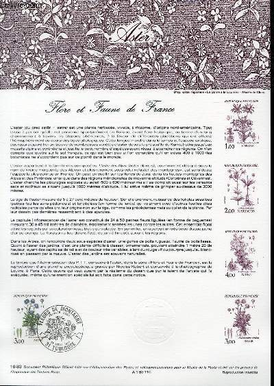 DOCUMENT PHILATELIQUE OFFICIEL N�16-83 - FLORE ET FAUNE DE FRANCE - ASTER (N�2268 YVERT ET TELLIER)