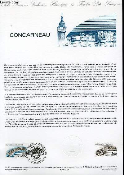 DOCUMENT PHILATELIQUE OFFICIEL N°23-83 - CONCARNEAU (N°2254 YVERT ET TELLIER)