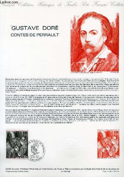 DOCUMENT PHILATELIQUE OFFICIEL N°25-83 - GUSTAVE DORE - CONTES DE PERRAULT (N°2265 YVERT ET TELLIER)