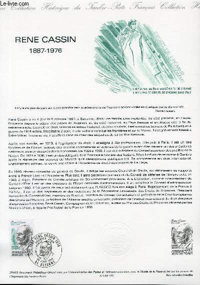 DOCUMENT PHILATELIQUE OFFICIEL N°26-83 - RENE CASSIN 1887-1976 (N°2283 YVERT ET TELLIER)