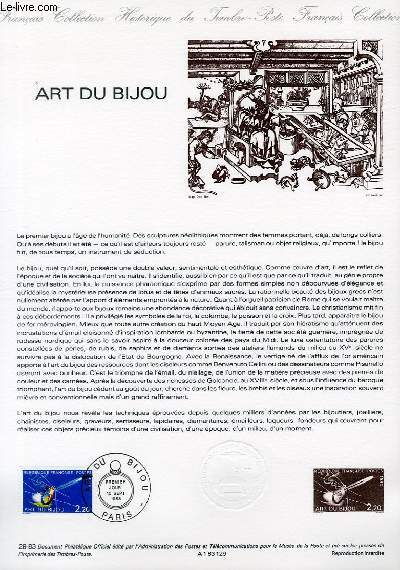 DOCUMENT PHILATELIQUE OFFICIEL N°29-83 - ART DU BIJOU (N°2286 YVERT ET TELLIER)