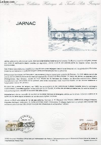 DOCUMENT PHILATELIQUE OFFICIEL N°33-83 - JARNAC (N°2287 YVERT ET TELLIER)