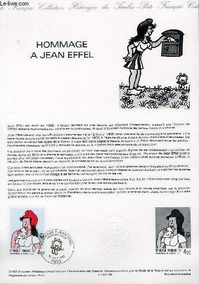 DOCUMENT PHILATELIQUE OFFICIEL N°34-83 - HOMMAGE A JEAN EIFFEL (N°2291 YVERT ET TELLIER)