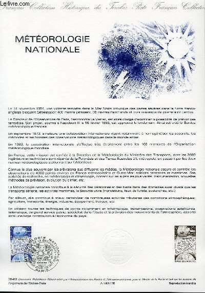 DOCUMENT PHILATELIQUE OFFICIEL N�35-83 - METEOROLOGIE NATIONALE (N�2292 YVERT ET TELLIER)