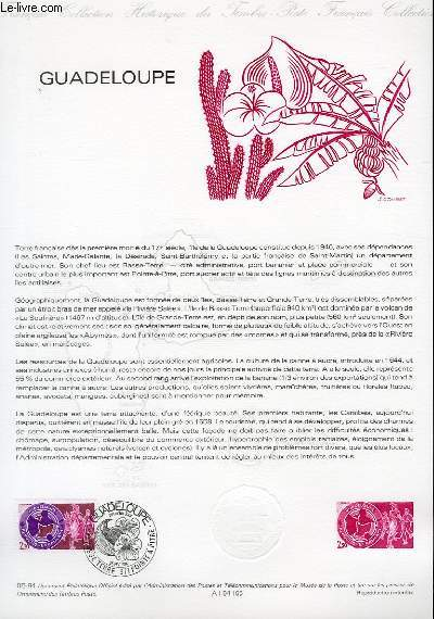DOCUMENT PHILATELIQUE OFFICIEL N°05-84 - GUADELOUPE (N°2302 YVERT ET TELLIER)