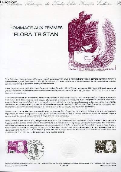 DOCUMENT PHILATELIQUE OFFICIEL N°06-84 -HOMMAGE AUX FEMMES - FLORA TRISTAN (N°2303 YVERT ET TELLIER)