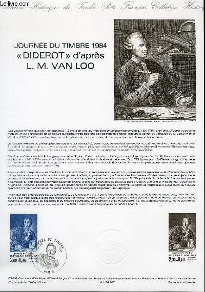 DOCUMENT PHILATELIQUE OFFICIEL N°07-84 - JOURNEE DU TIMBRE 84 -