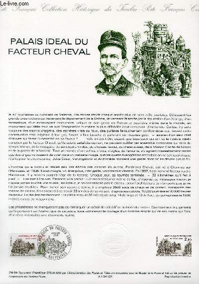 DOCUMENT PHILATELIQUE OFFICIEL N�24-84 - PALAIS IDEAL DU FACTEUR CHEVAL (N�2324 YVERT ET TELLIER)