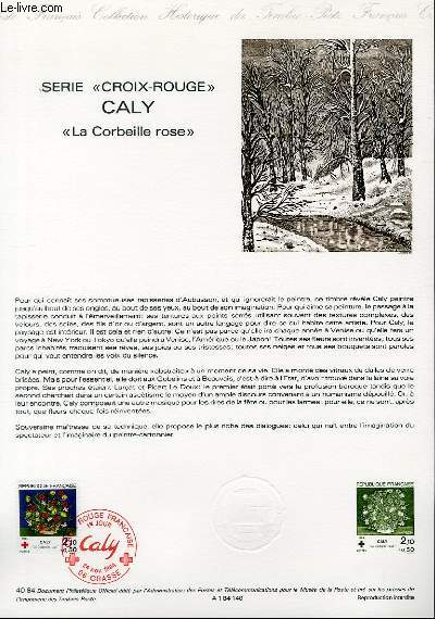 DOCUMENT PHILATELIQUE OFFICIEL N�40-84 - SERIE CROIX ROUGE - CALY