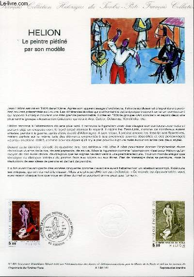 DOCUMENT PHILATELIQUE OFFICIEL N�41-84 - HELION - LE PEINTRE PIETINE PAR SON MODELE (N�2343 YVERT ET TELLIER)