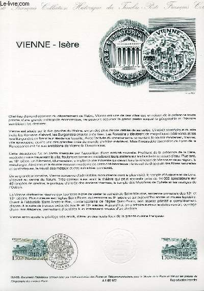 DOCUMENT PHILATELIQUE OFFICIEL N°02-85 - VIENNE - ISERE (N°2348 YVERT ET TELLIER)