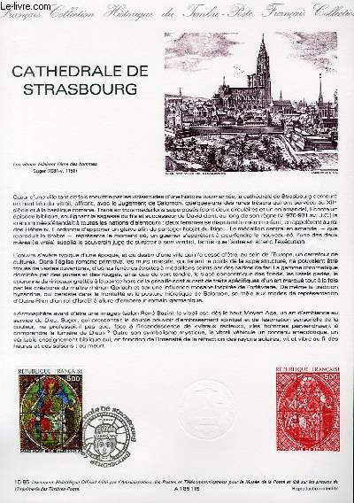 DOCUMENT PHILATELIQUE OFFICIEL N°15-85 - CATHEDRALE DE STRASBOURG (N°2363 YVERT ET TELLIER)