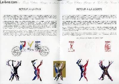 DOCUMENT PHILATELIQUE OFFICIEL N°19-85 - 40° ANNIVERSAIRE DE LA VICTOIRE - RETOUR A LA LIBERTE (N°2368-69 YVERT ET TELLIER)