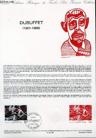 DOCUMENT PHILATELIQUE OFFICIEL N°29-85 - DUBUFFET 1901-1985 (N°2381 YVERT ET TELLIER)