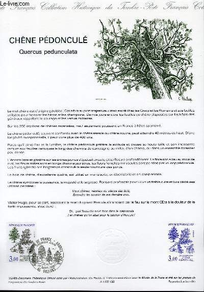 DOCUMENT PHILATELIQUE OFFICIEL N°32-85 - CHENE PEDONCULE - QUERCUS PEDUNCULATA (N°2386 YVERT ET TELLIER)