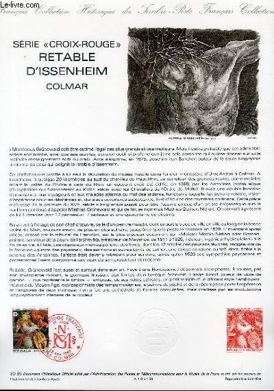 DOCUMENT PHILATELIQUE OFFICIEL N°39-85 - SERIE CROIX ROUGE - RETABLE D'ISSENHEIM - COLMAR (N°2392 YVERT ET TELLIER)