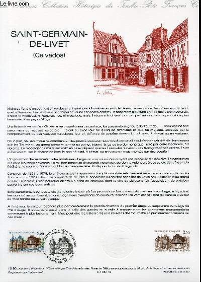 DOCUMENT PHILATELIQUE OFFICIEL N°10-86 - SAINT GERMAIN DE LIVET - CALVADOS (N°2403 YVERT ET TELLIER)