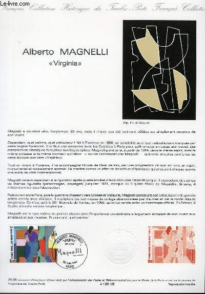 DOCUMENT PHILATELIQUE OFFICIEL N°25-86 - ALBERTO MAGNELLI