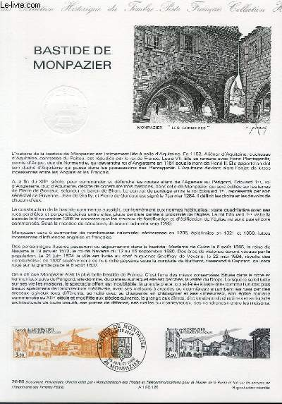 DOCUMENT PHILATELIQUE OFFICIEL N°26-86 - BASTIDE DE MONPAZIER (N°2405 YVERT ET TELLIER)