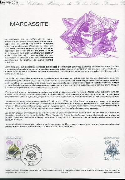 DOCUMENT PHILATELIQUE OFFICIEL N�30-86 - MARCASSITE (N�2429 YVERT ET TELLIER)