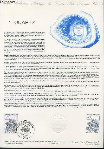 DOCUMENT PHILATELIQUE OFFICIEL N°31-86 - QUARTZ (N°2430 YVERT ET TELLIER)