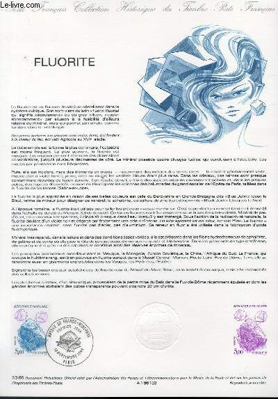 DOCUMENT PHILATELIQUE OFFICIEL N°33-86 - FLUORITE (N°2432 YVERT ET TELLIER)