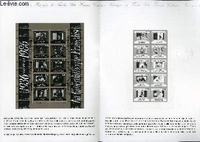DOCUMENT PHILATELIQUE OFFICIEL N°34-86 - 50° DE LA CINEMATHEQUE (N°bf 9 YVERT ET TELLIER)