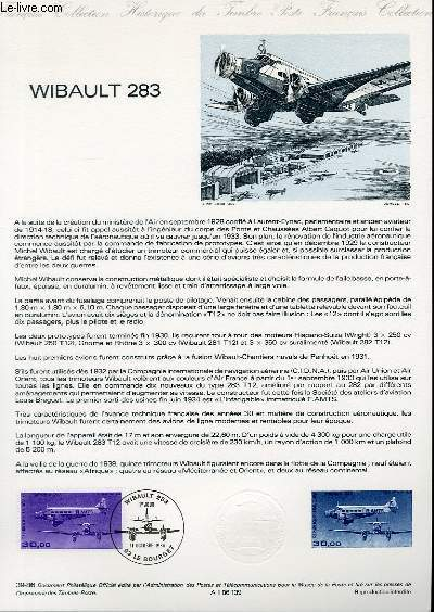 DOCUMENT PHILATELIQUE OFFICIEL N°39-86 - WIBAULT 283 (N°AV.59 YVERT ET TELLIER)
