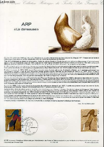 DOCUMENT PHILATELIQUE OFFICIEL N°40-86 - ARP